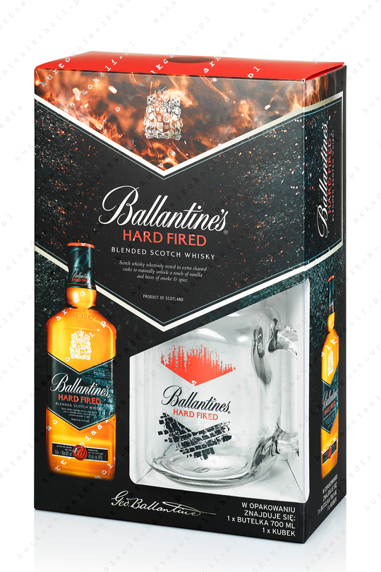 Ballantine's Hard Fired 40% 0,7l + słoik