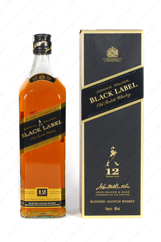 Johnnie Walker Black Label 40% 1L kartonik