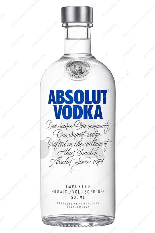 Absolut Blue 40% 0,5L