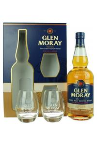 Glen Moray Chardonnay Glass Pack 40% 07l