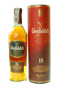 Glenfiddich Single Malt 15Y 40% 0,7l tuba