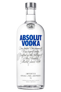 Absolut Blue 40% 1L